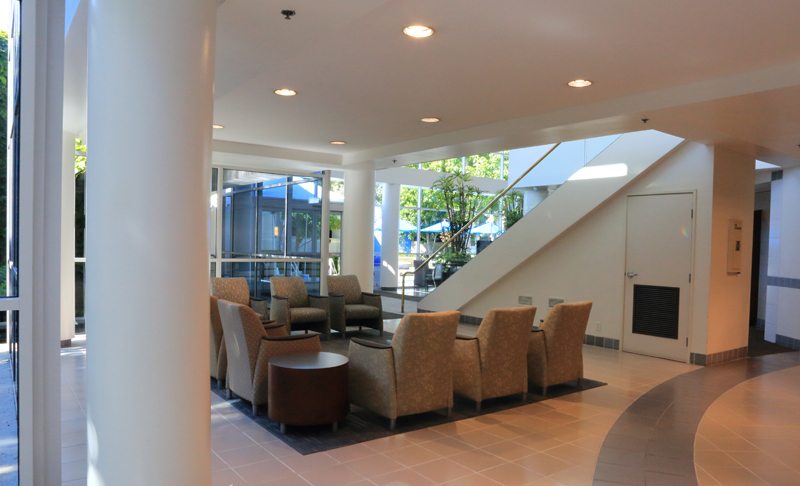 newport beach surgery center waiting area stairs