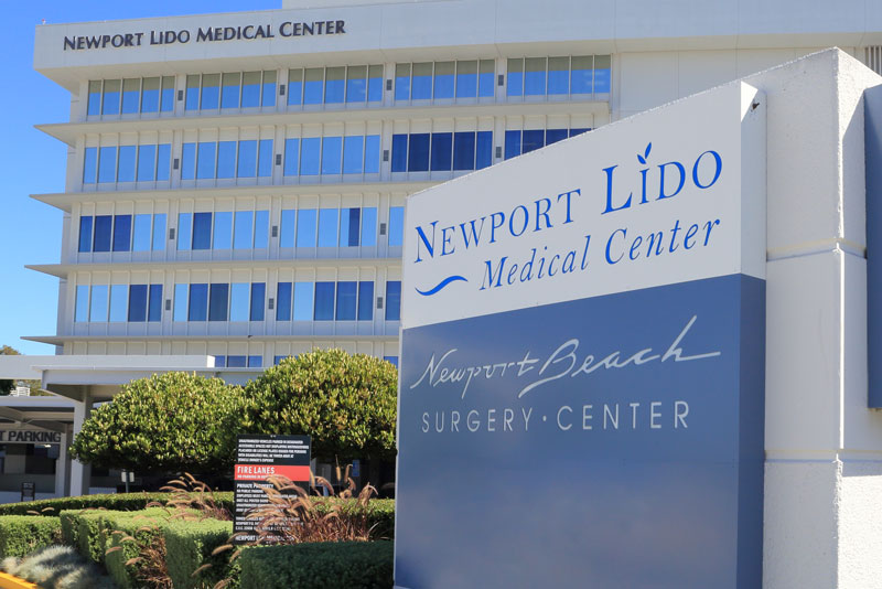Newport Beach Surgery Center landmark sign